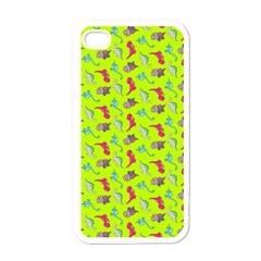 Dinosaurs pattern Apple iPhone 4 Case (White)