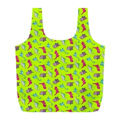 Dinosaurs pattern Full Print Recycle Bags (L)