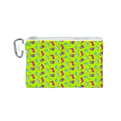 Dinosaurs pattern Canvas Cosmetic Bag (S)
