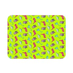 Dinosaurs pattern Double Sided Flano Blanket (Mini)
