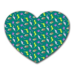 Dinosaurs pattern Heart Mousepads