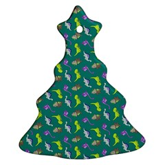 Dinosaurs pattern Christmas Tree Ornament (Two Sides)