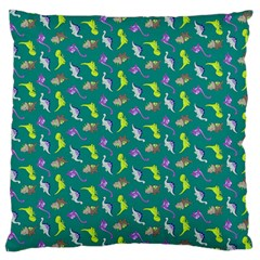 Dinosaurs pattern Standard Flano Cushion Case (Two Sides)
