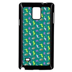 Dinosaurs pattern Samsung Galaxy Note 4 Case (Black)