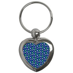 Dinosaurs pattern Key Chains (Heart)