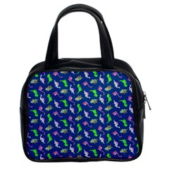 Dinosaurs pattern Classic Handbags (2 Sides)