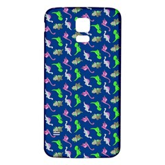Dinosaurs pattern Samsung Galaxy S5 Back Case (White)