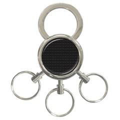 Pattern 3-Ring Key Chains