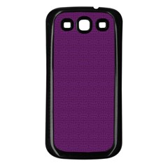 Pattern Samsung Galaxy S3 Back Case (Black)