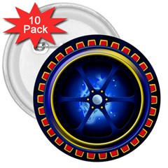Power Core 3  Buttons (10 pack)