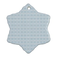 Pattern Snowflake Ornament (Two Sides)