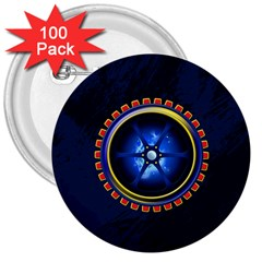 Power Core 3  Buttons (100 Pack)