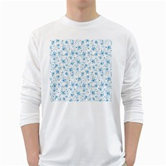 Floral pattern White Long Sleeve T-Shirts