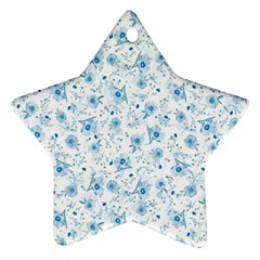 Floral pattern Star Ornament (Two Sides)