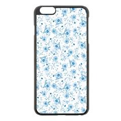 Floral pattern Apple iPhone 6 Plus/6S Plus Black Enamel Case
