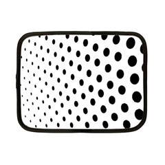 Polka Dot Black Circle Netbook Case (small)