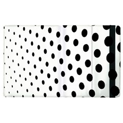 Polka Dot Black Circle Apple iPad 2 Flip Case