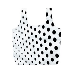 Polka Dot Black Circle Full Print Recycle Bags (m)