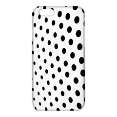 Polka Dot Black Circle iPhone 6/6S TPU Case