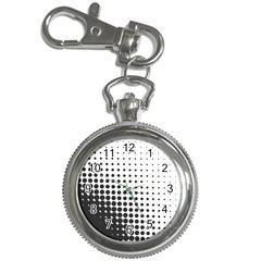 Comic Dots Polka Black White Key Chain Watches