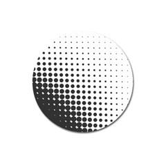 Comic Dots Polka Black White Magnet 3  (Round)