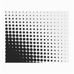 Comic Dots Polka Black White Small Glasses Cloth