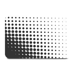 Comic Dots Polka Black White Plate Mats