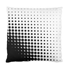 Comic Dots Polka Black White Standard Cushion Case (One Side)