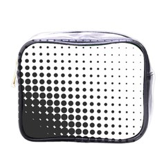 Comic Dots Polka Black White Mini Toiletries Bags