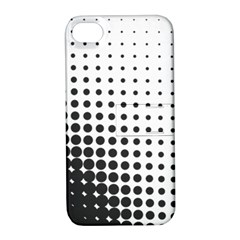 Comic Dots Polka Black White Apple iPhone 4/4S Hardshell Case with Stand