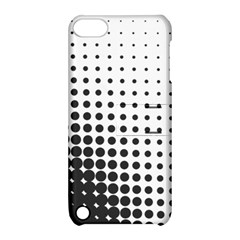 Comic Dots Polka Black White Apple iPod Touch 5 Hardshell Case with Stand