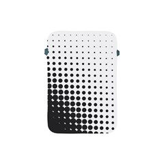 Comic Dots Polka Black White Apple iPad Mini Protective Soft Cases