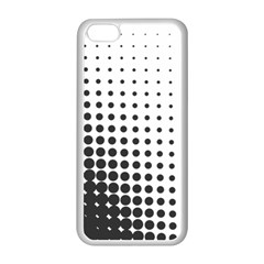 Comic Dots Polka Black White Apple iPhone 5C Seamless Case (White)
