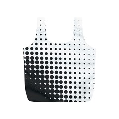 Comic Dots Polka Black White Full Print Recycle Bags (S)