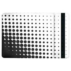Comic Dots Polka Black White iPad Air 2 Flip