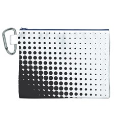 Comic Dots Polka Black White Canvas Cosmetic Bag (XL)