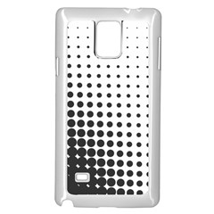 Comic Dots Polka Black White Samsung Galaxy Note 4 Case (White)