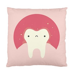 Sad Tooth Pink Standard Cushion Case (One Side)