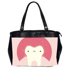 Sad Tooth Pink Office Handbags (2 Sides)