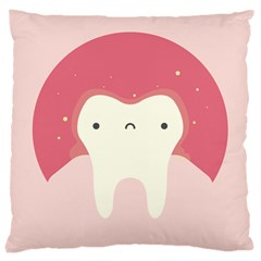 Sad Tooth Pink Large Cushion Case (Two Sides)