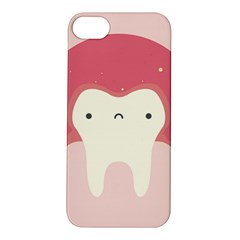 Sad Tooth Pink Apple iPhone 5S/ SE Hardshell Case