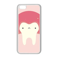 Sad Tooth Pink Apple iPhone 5C Seamless Case (White)