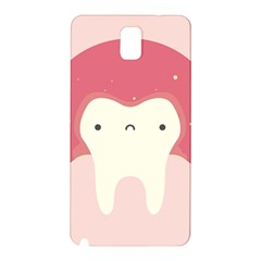 Sad Tooth Pink Samsung Galaxy Note 3 N9005 Hardshell Back Case