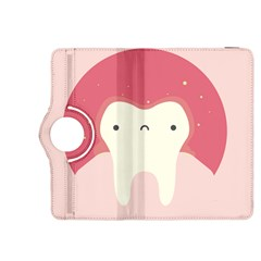 Sad Tooth Pink Kindle Fire HDX 8.9  Flip 360 Case