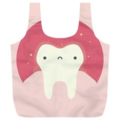 Sad Tooth Pink Full Print Recycle Bags (L)