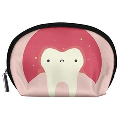 Sad Tooth Pink Accessory Pouches (large)