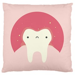 Sad Tooth Pink Standard Flano Cushion Case (two Sides)