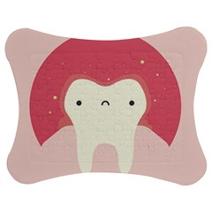 Sad Tooth Pink Jigsaw Puzzle Photo Stand (Bow)