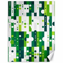 Generative Art Experiment Rectangular Circular Shapes Polka Green Vertical Canvas 18  x 24