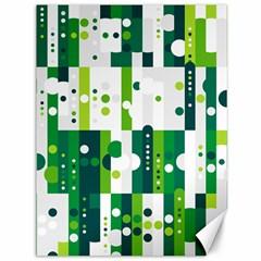 Generative Art Experiment Rectangular Circular Shapes Polka Green Vertical Canvas 36  X 48